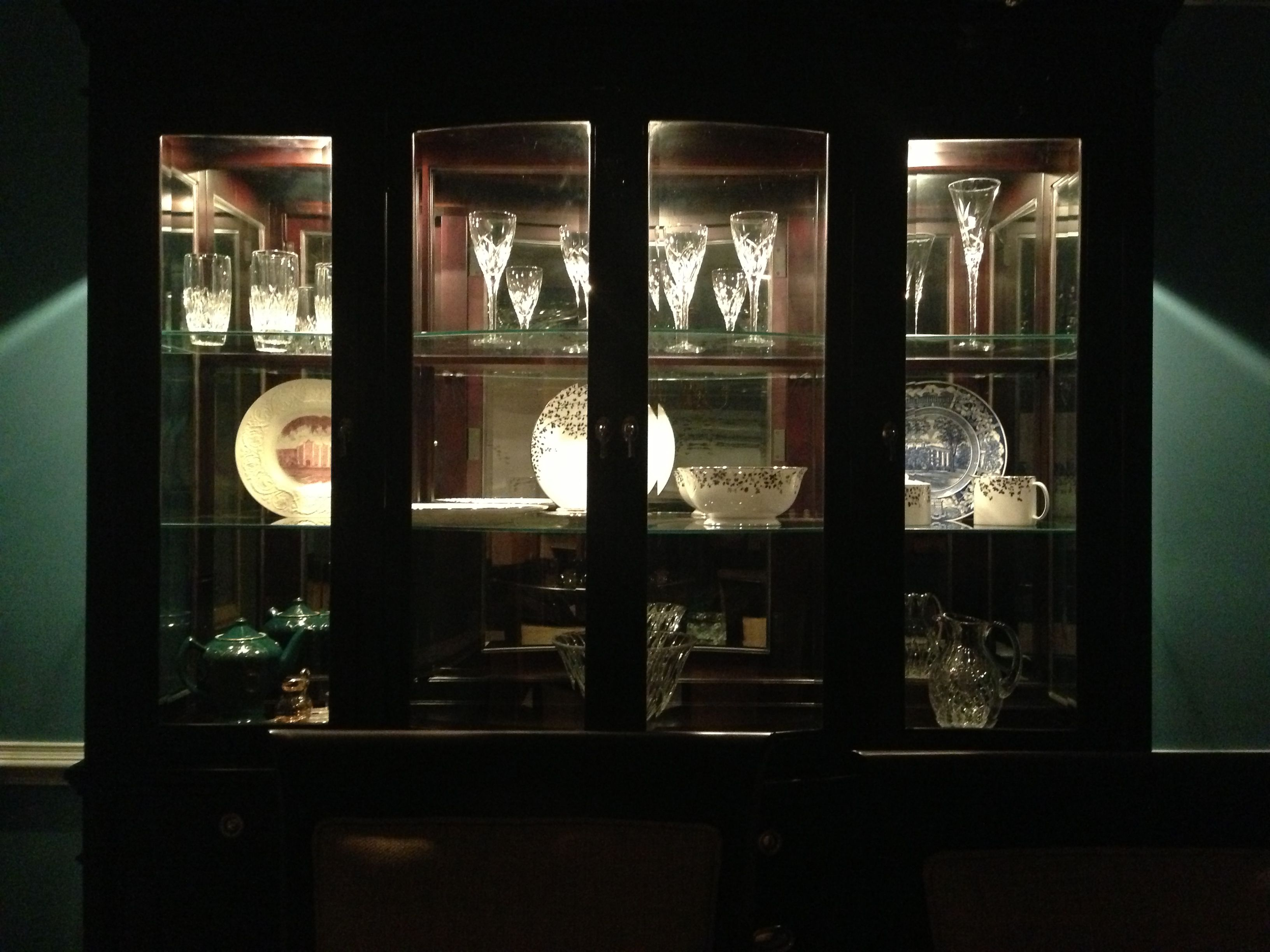 China cabinet with lights for the home pinterest