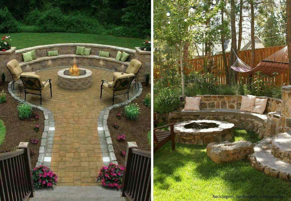 outdoor seating and fire pit sherris ideas pinterest. Black Bedroom Furniture Sets. Home Design Ideas