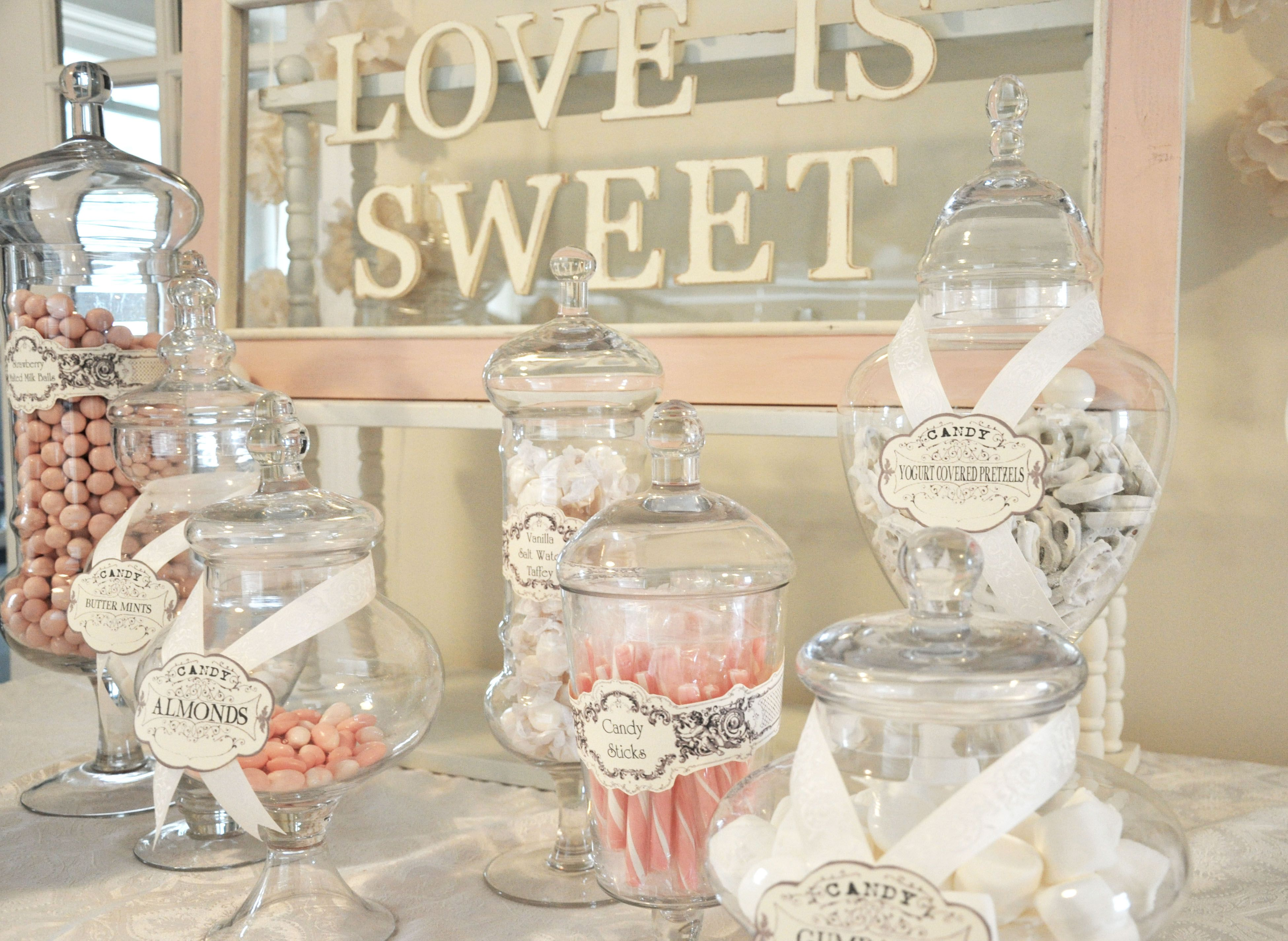 Candy Buffet For Wedding. Palais Glassware Clear Glass Apothecary ...