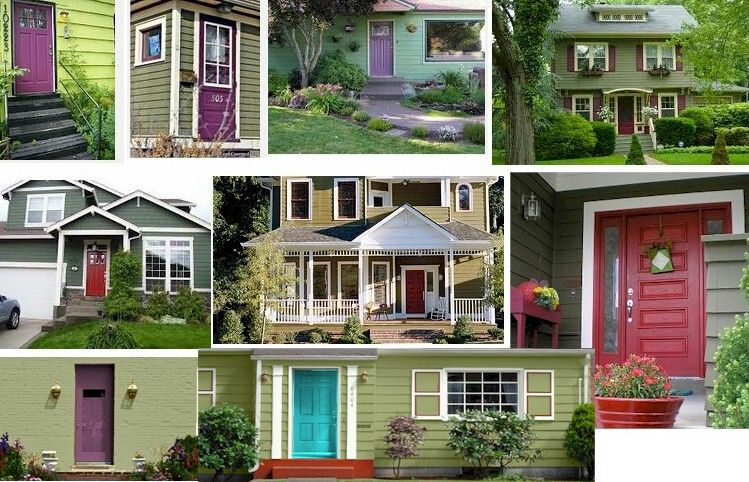 Green House Purple Door Bungalows Pinterest