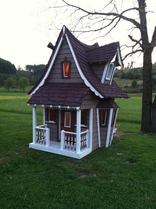 Crooked Playhouse Backyard Pinterest