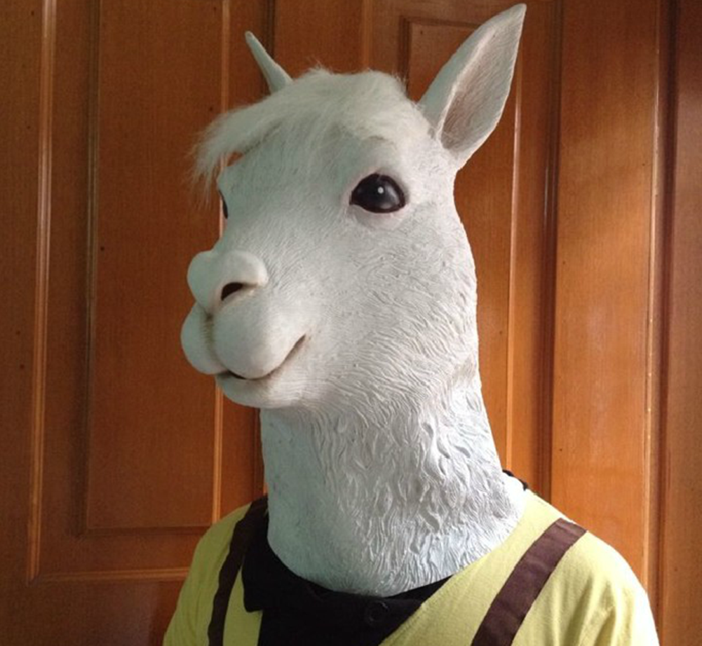 Alpaca Head Mask