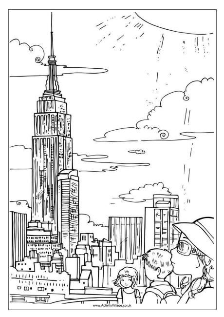 Coloring Pages New York City Spain Portugal Trip Pinterest Empire State Building Empire