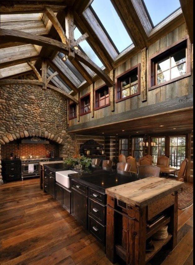 Amazing Skylights Amazing Stone Log Cabin Dreams Pinter