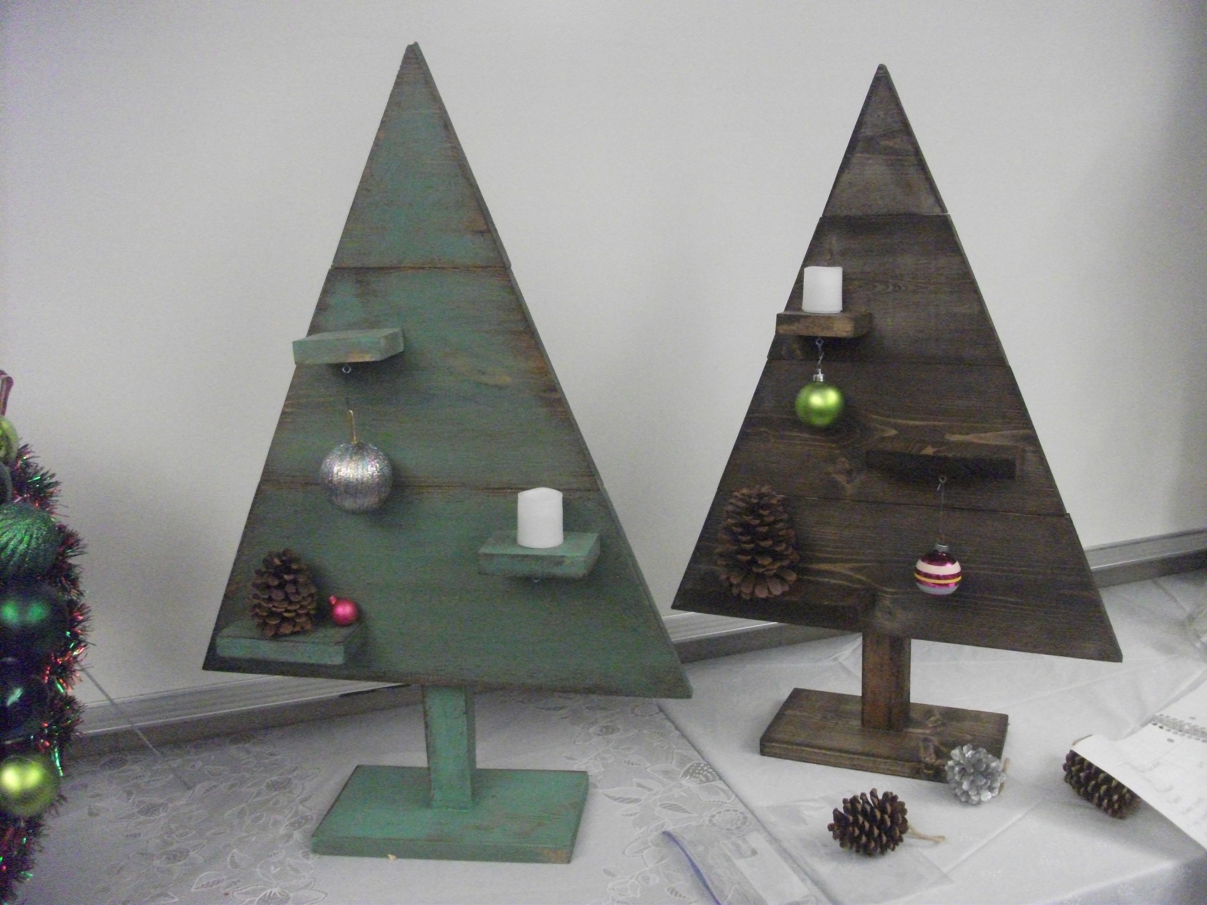 Wooden Christmas Tree With Shelves Created By Marie
