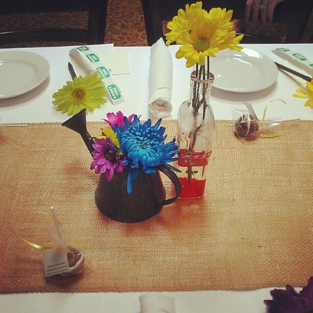 Wedding Shower Gift For Brother : Bridal Shower Centerpieces! My Brothers Peacock Wedding Pinterest