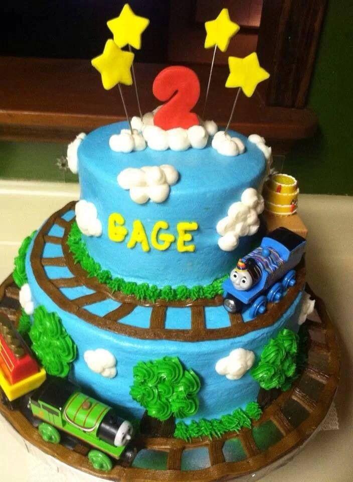 Cake Decorating Ideas Trains : Thomas birthday train cake cake decorating ideas Pinterest