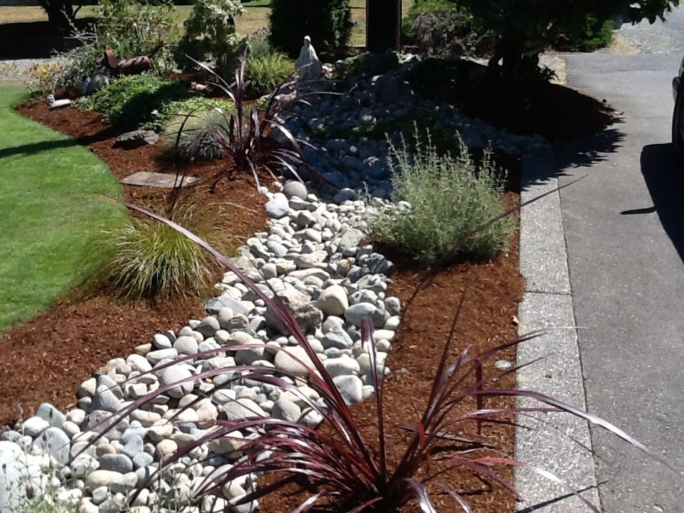 river rock landscaping home decor diy pinterest