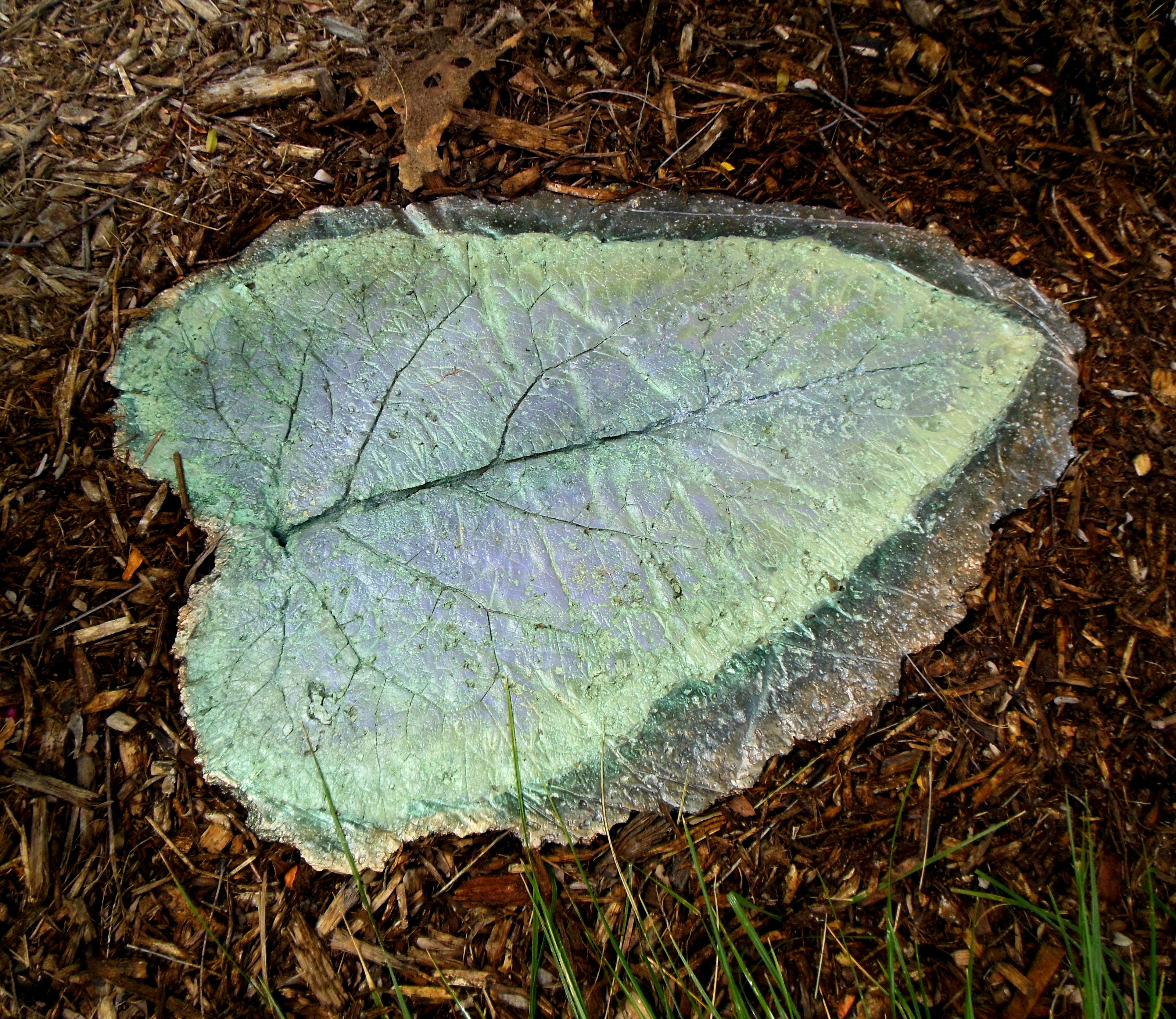 Large Hypertufa Leaf Stepping Stone My Projects Pinterest