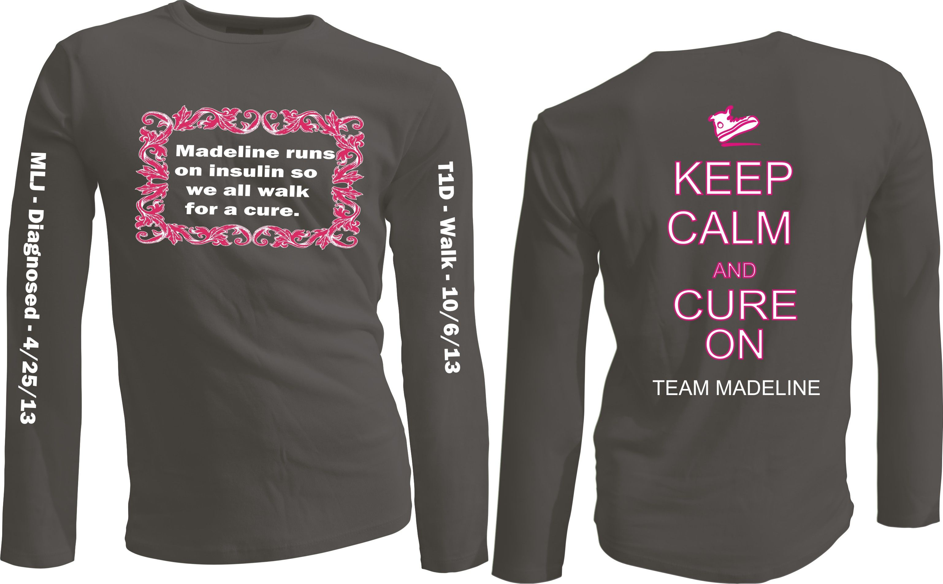 Custom team t shirts ideas for shirts raise for jdrf for Jdrf one walk t shirts