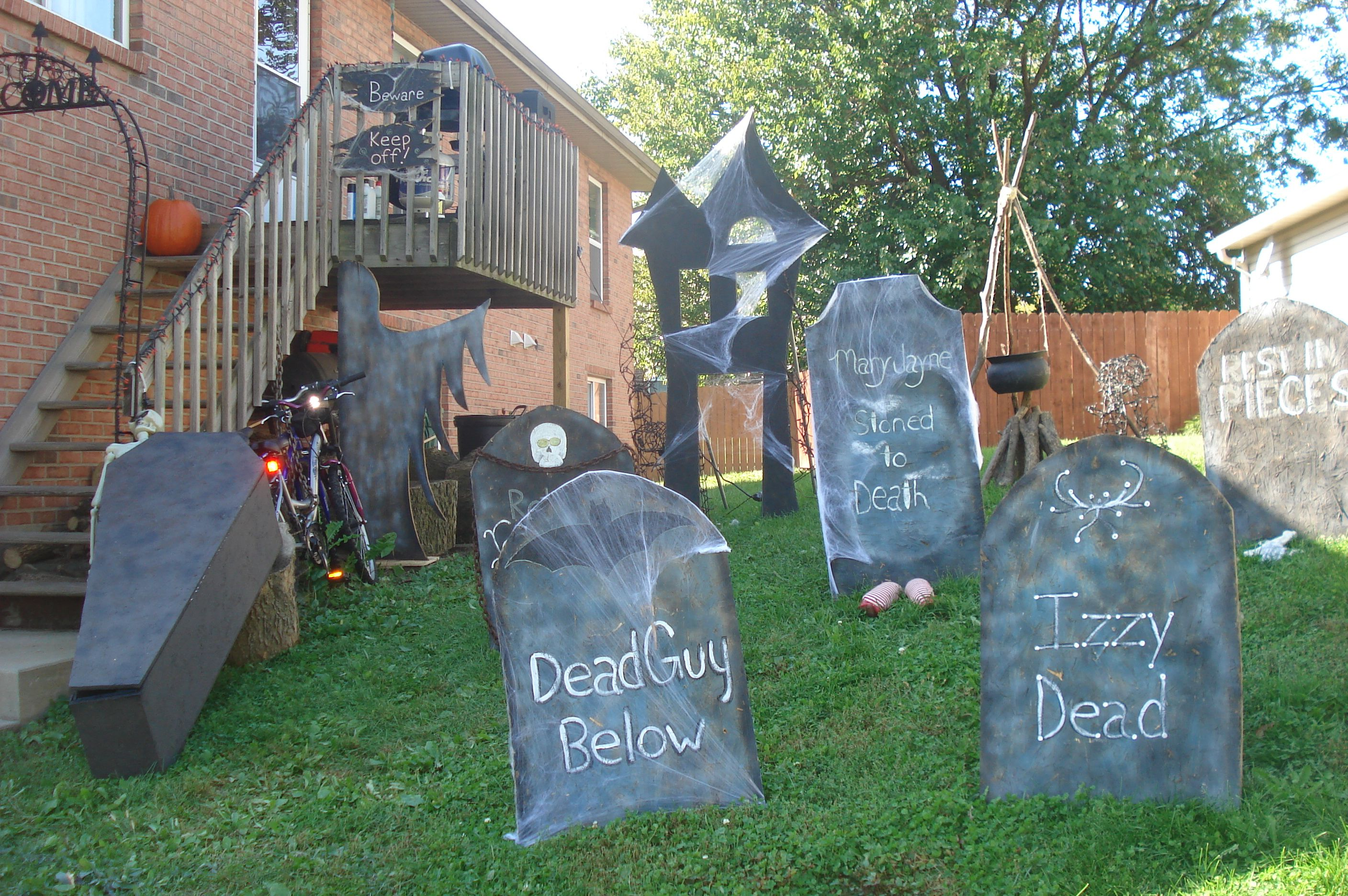 outdoor halloween decor my style pinterest