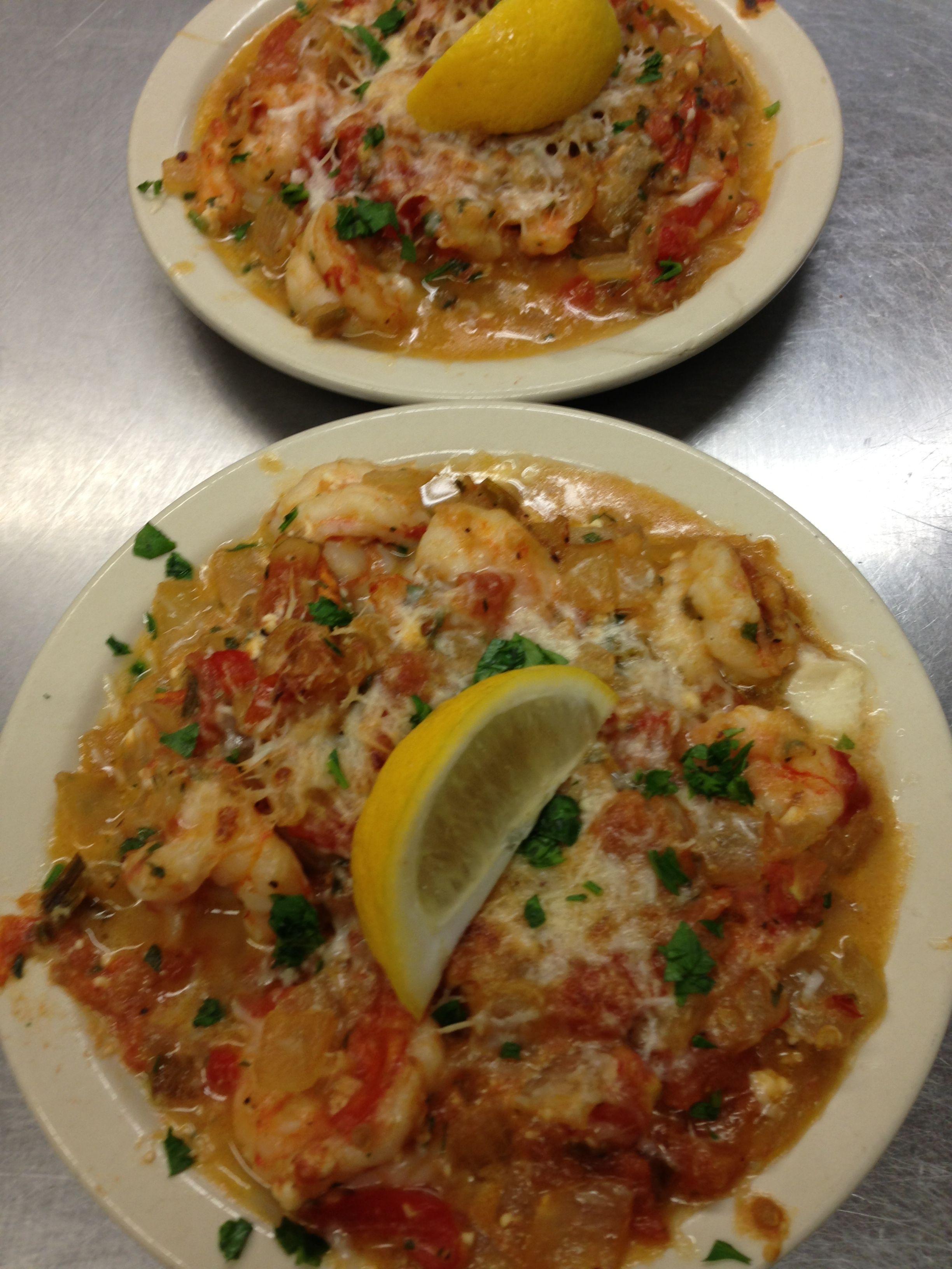 Shrimp saganaki | OPA!! It's GREEK to Me!! :D | Pinterest