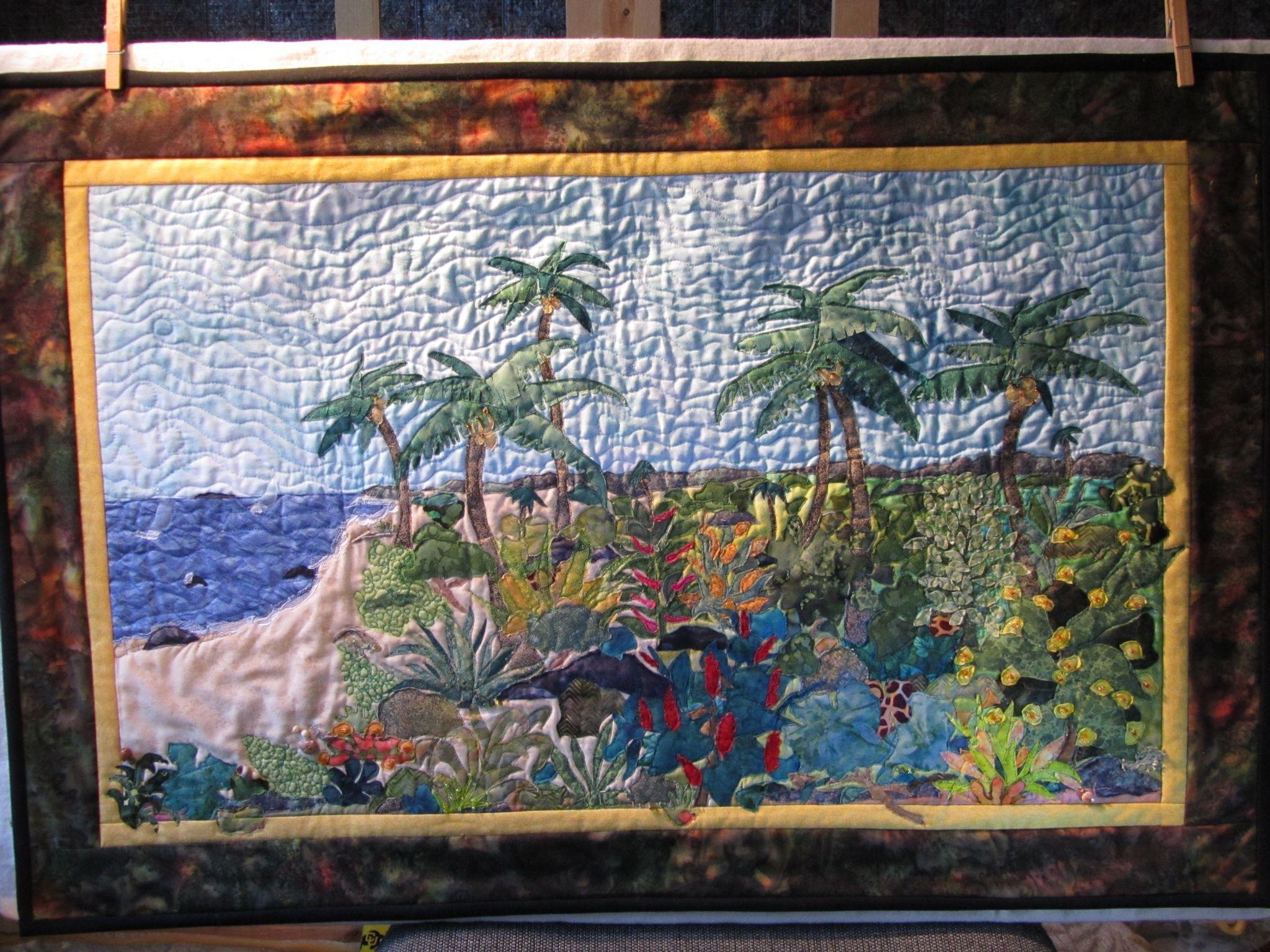 Landscape Quilt Patterns Kits : Tropical landscape quilt Quilts I Like Pinterest