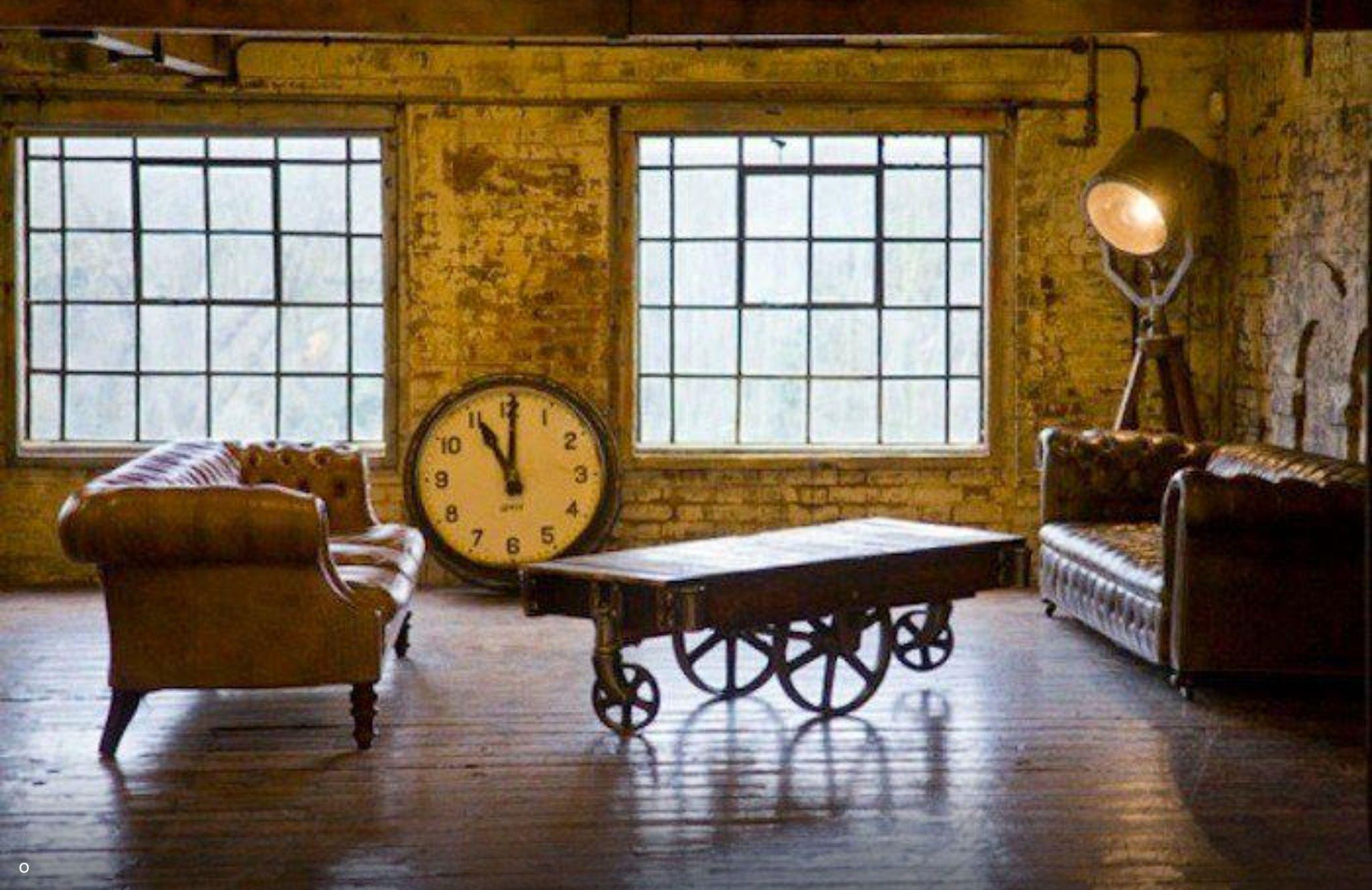 Rustic industrial loft living room gram pinterest