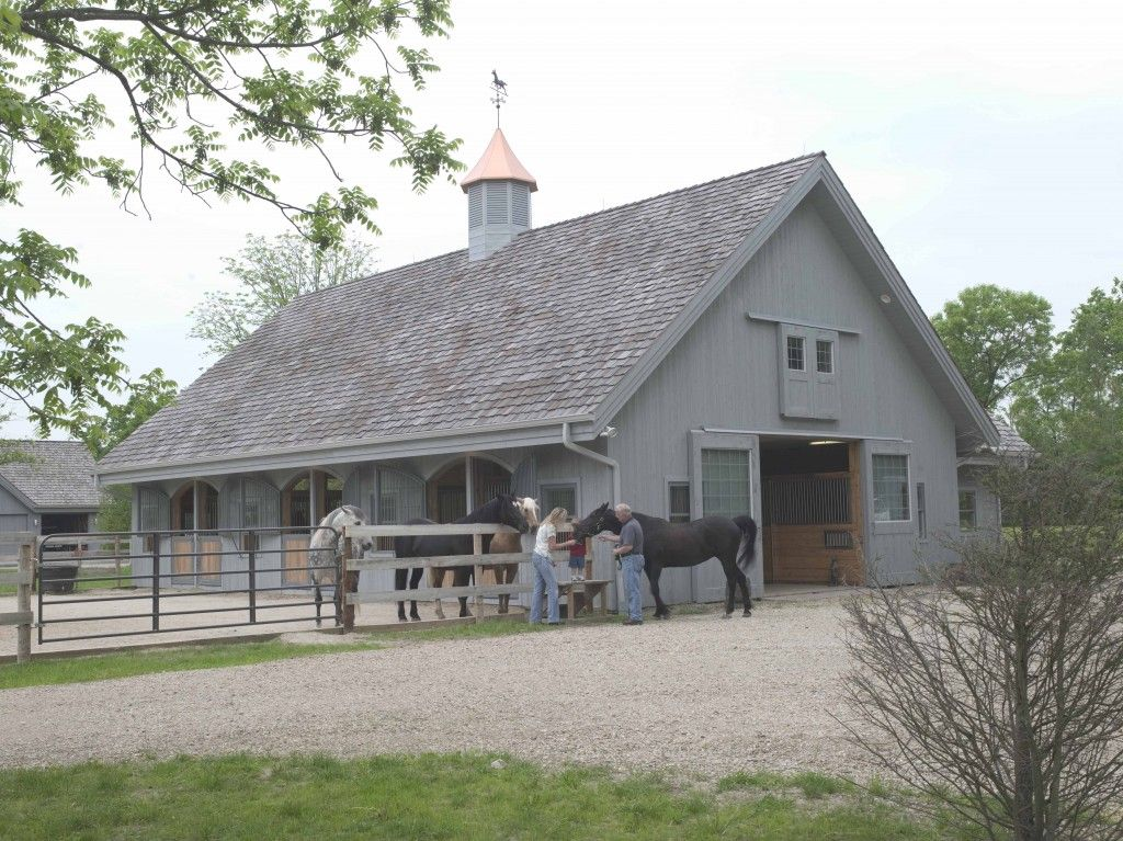 Morton buildings horse barn in illinois morton for Horse barn building