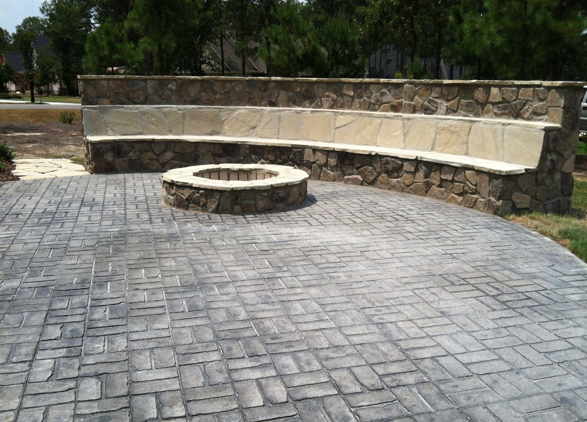 backyard patio seating wall fire pit garden yard
