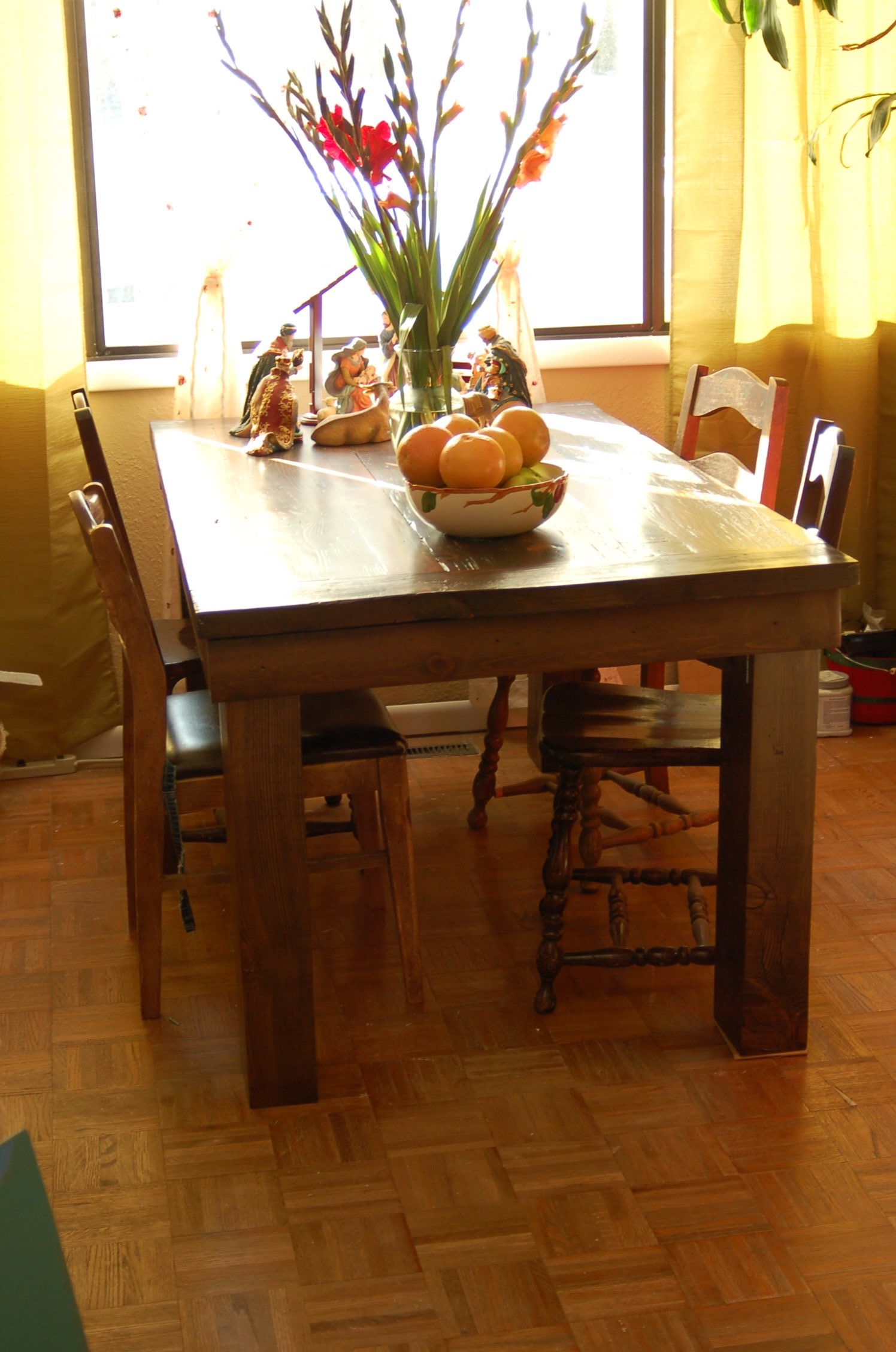 Superb img of My dining table made out of barn wood. Homemade furniture Pintere  with #3E1E08 color and 1496x2256 pixels