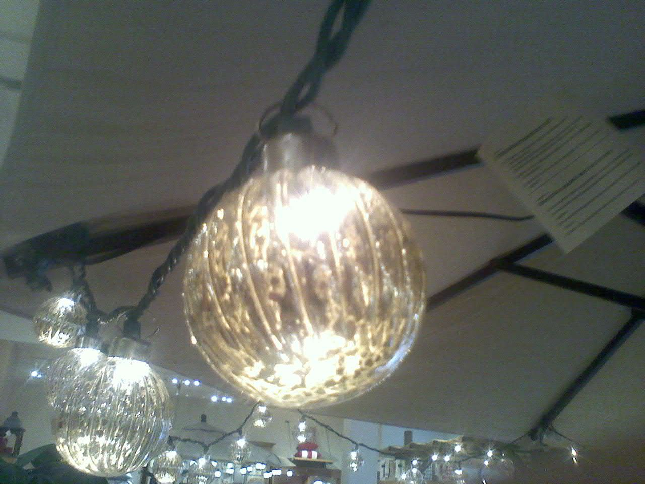 christmas ornaments over string lights Christmas Decor Pinterest