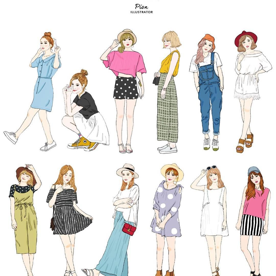 Learn how to sketch fashion clothes 38