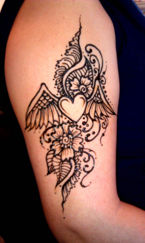 Mehndi Designs Heart : Henna winged heart designs pinterest
