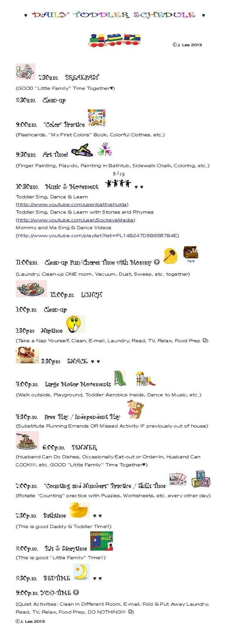 schedule for 1 year old template - Yahoo Image Search Results ...