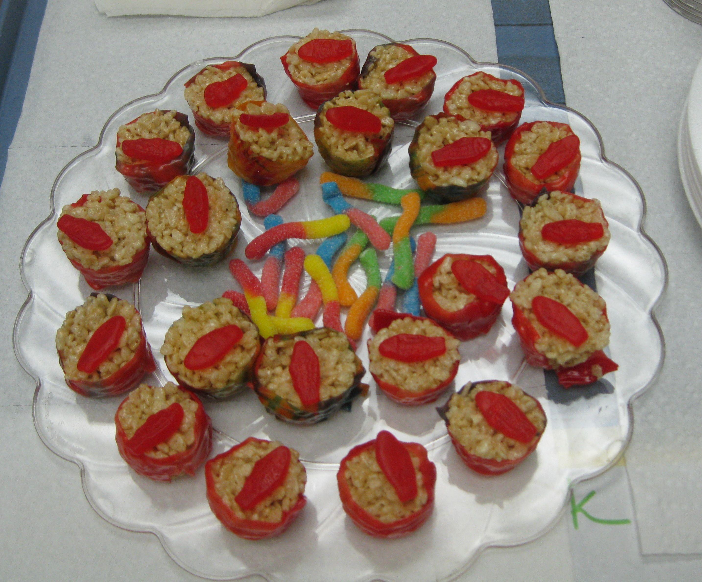 Rice Krispie Sushi | snap crackle pop | Pinterest