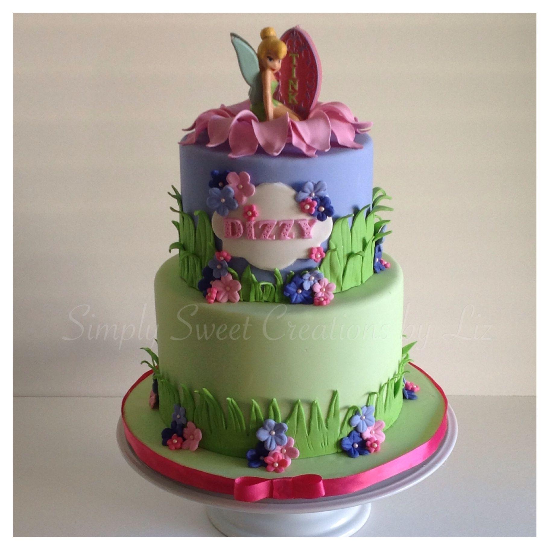 Tinkerbell birthday cake  Fairy fantastic...  Pinterest