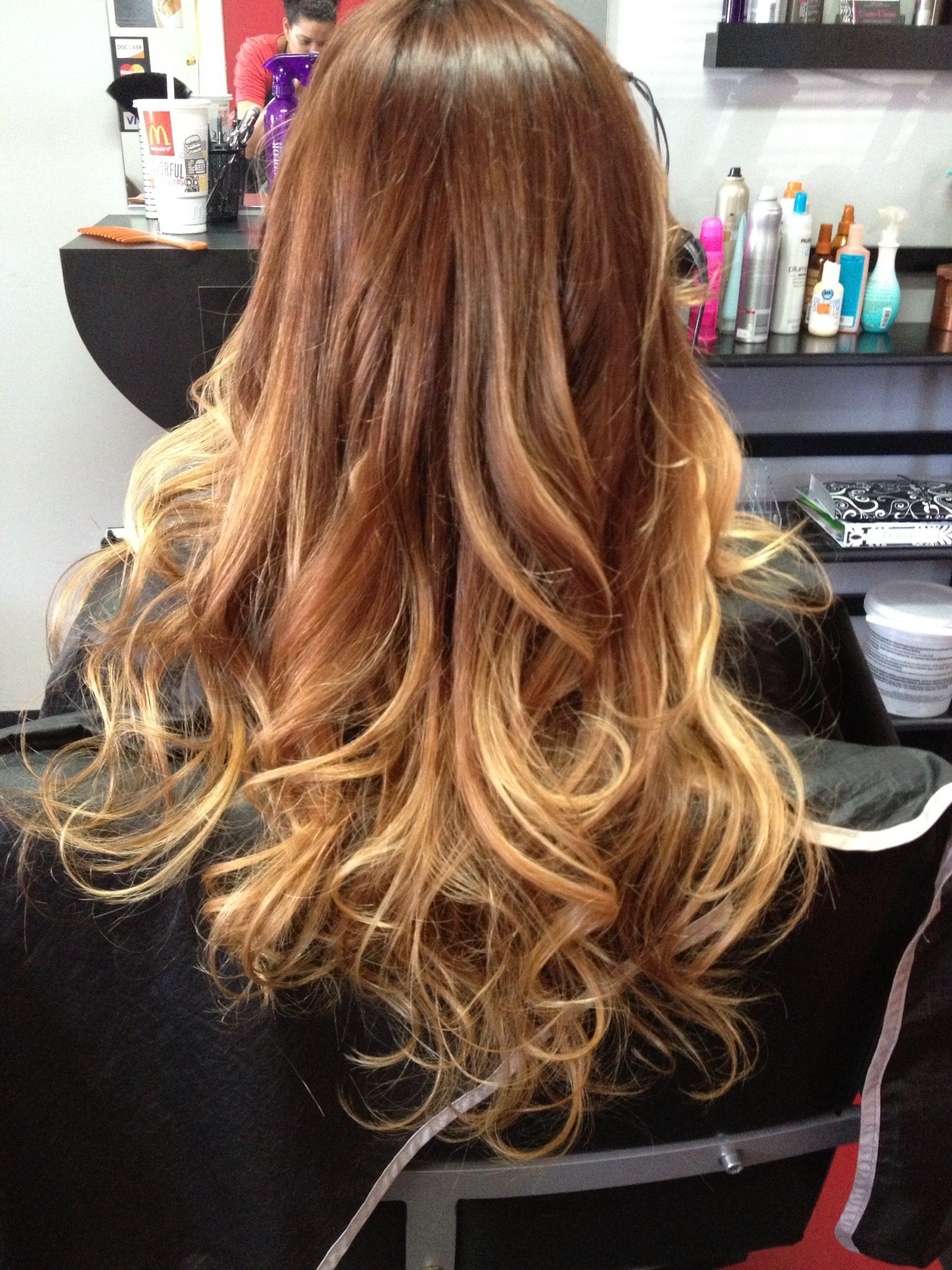 Lily aldridge ombre hair hair colors ideas of ombre hair color brown to blonde - Ombre braun blond ...