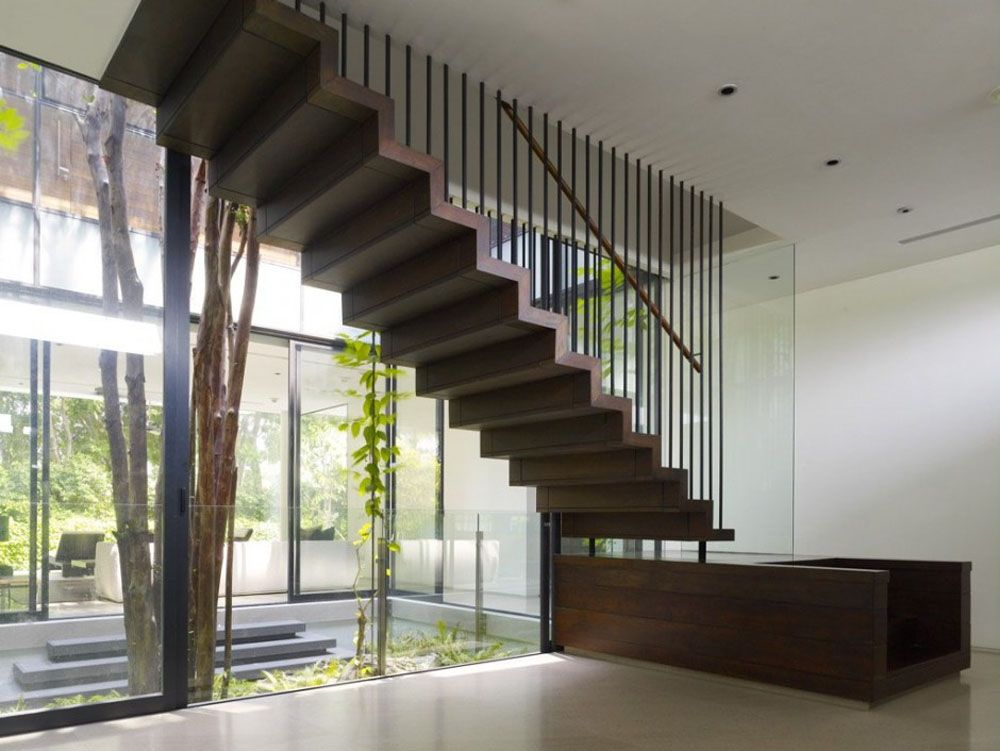 Floating Staircase Cabin Stairway Ideas Pinterest