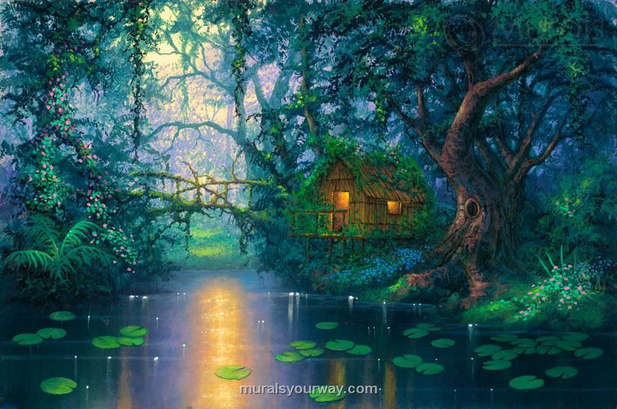 Pin by snowmoon on houses mansion buildings pinterest for Fairy mural wallpaper