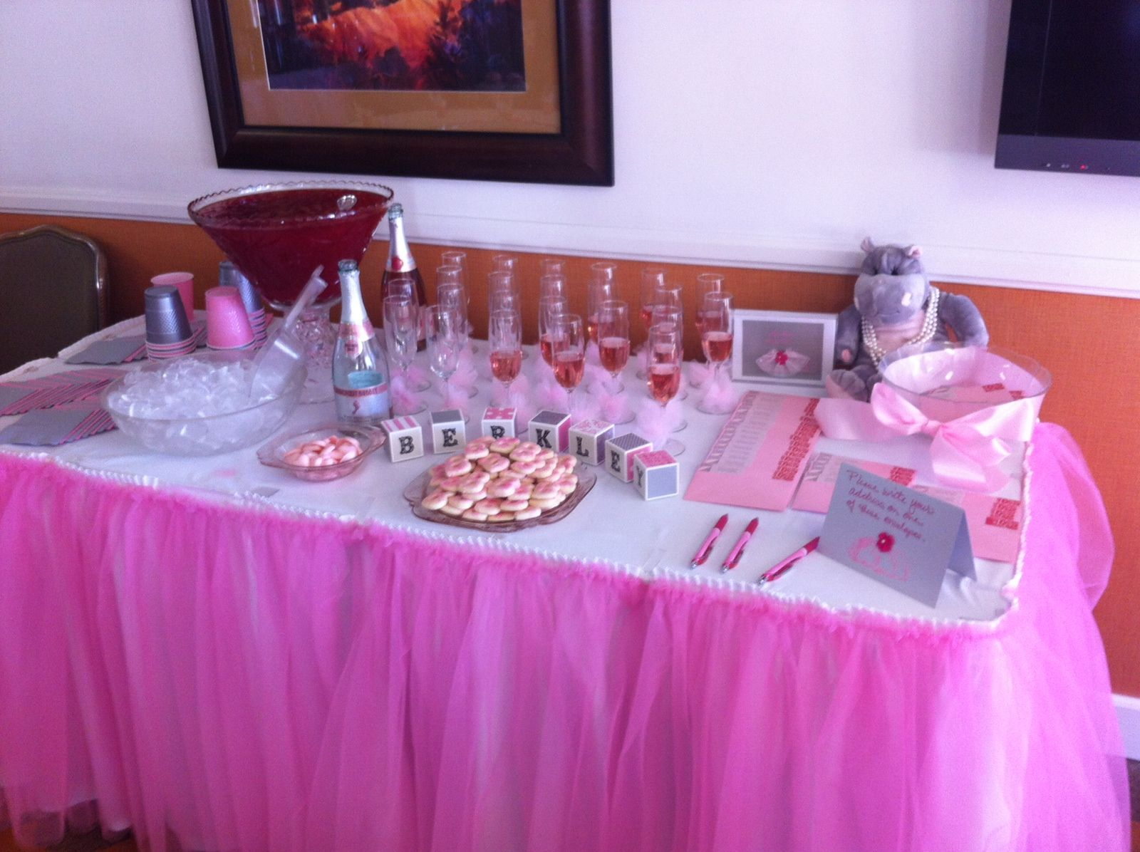 tutu cute baby shower beverage table party ideas pinterest