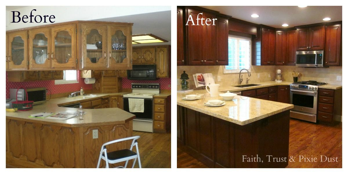 Kitchen remodeling before and after kitchen remodel for Kitchen remodel pics