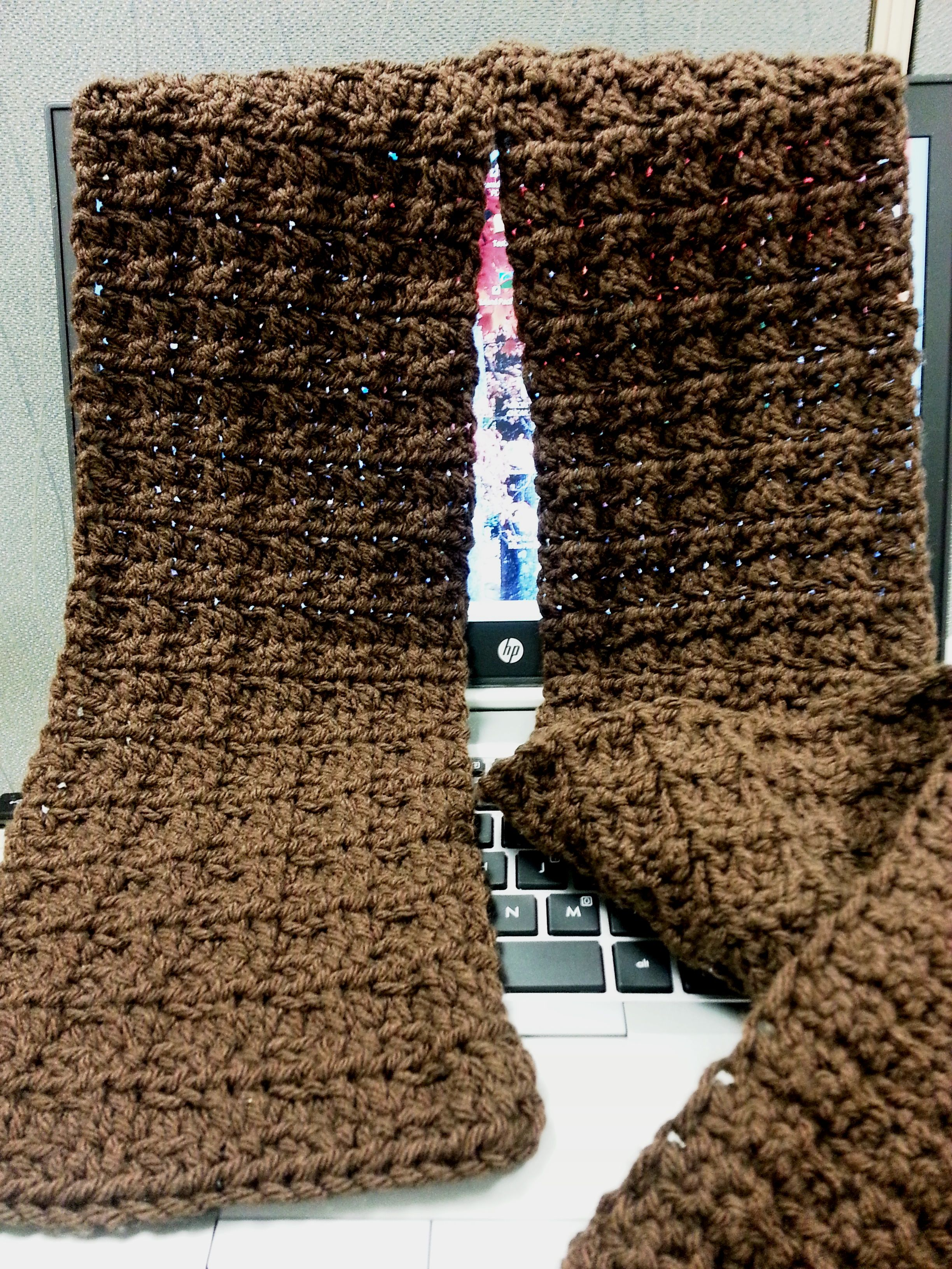 Single-Crochet Mistake Rib in Brown Crochet Pinterest