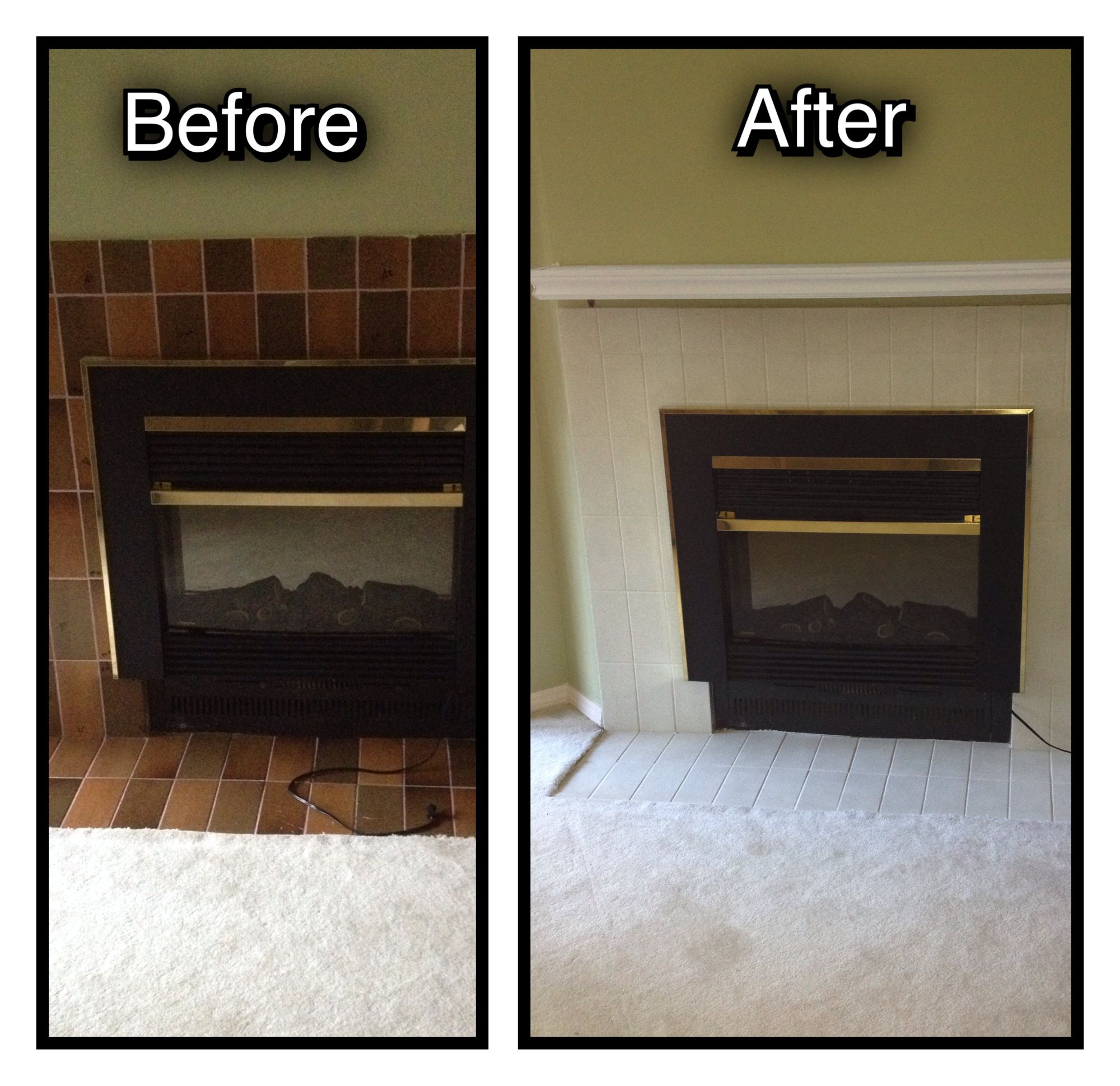 Can You Paint Over Bathroom Wall Tiles: $60 Fireplace DIY Facelift. I Have Done This Myself, In