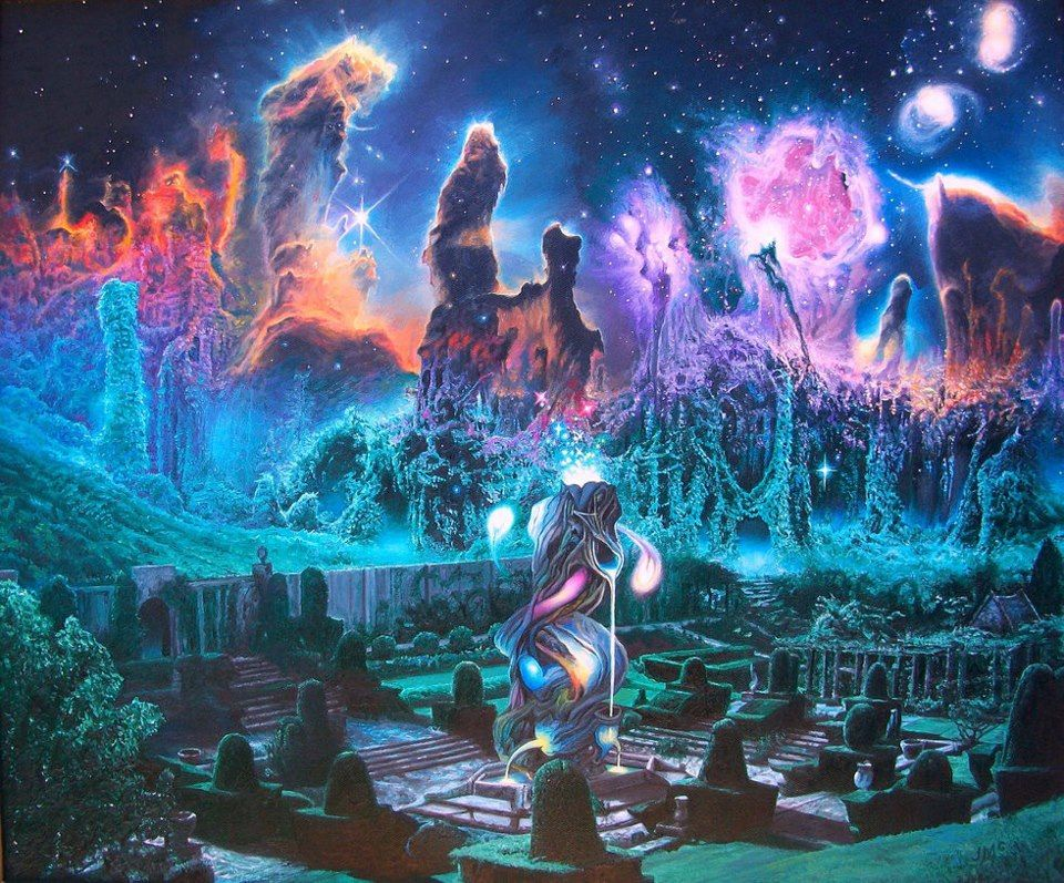 Psicodelia hippie trippy art pinterest for Space landscape