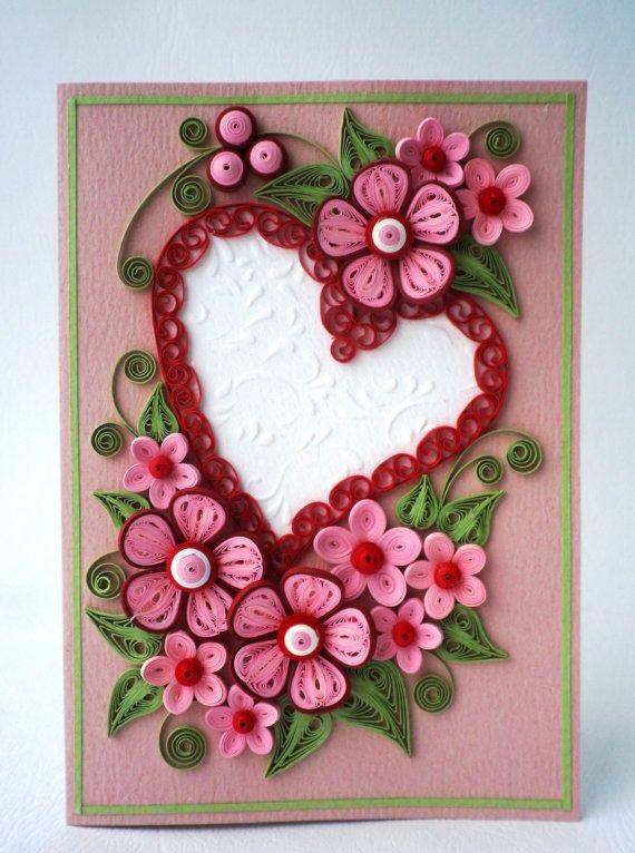 Valentine Quilling Card Valentine