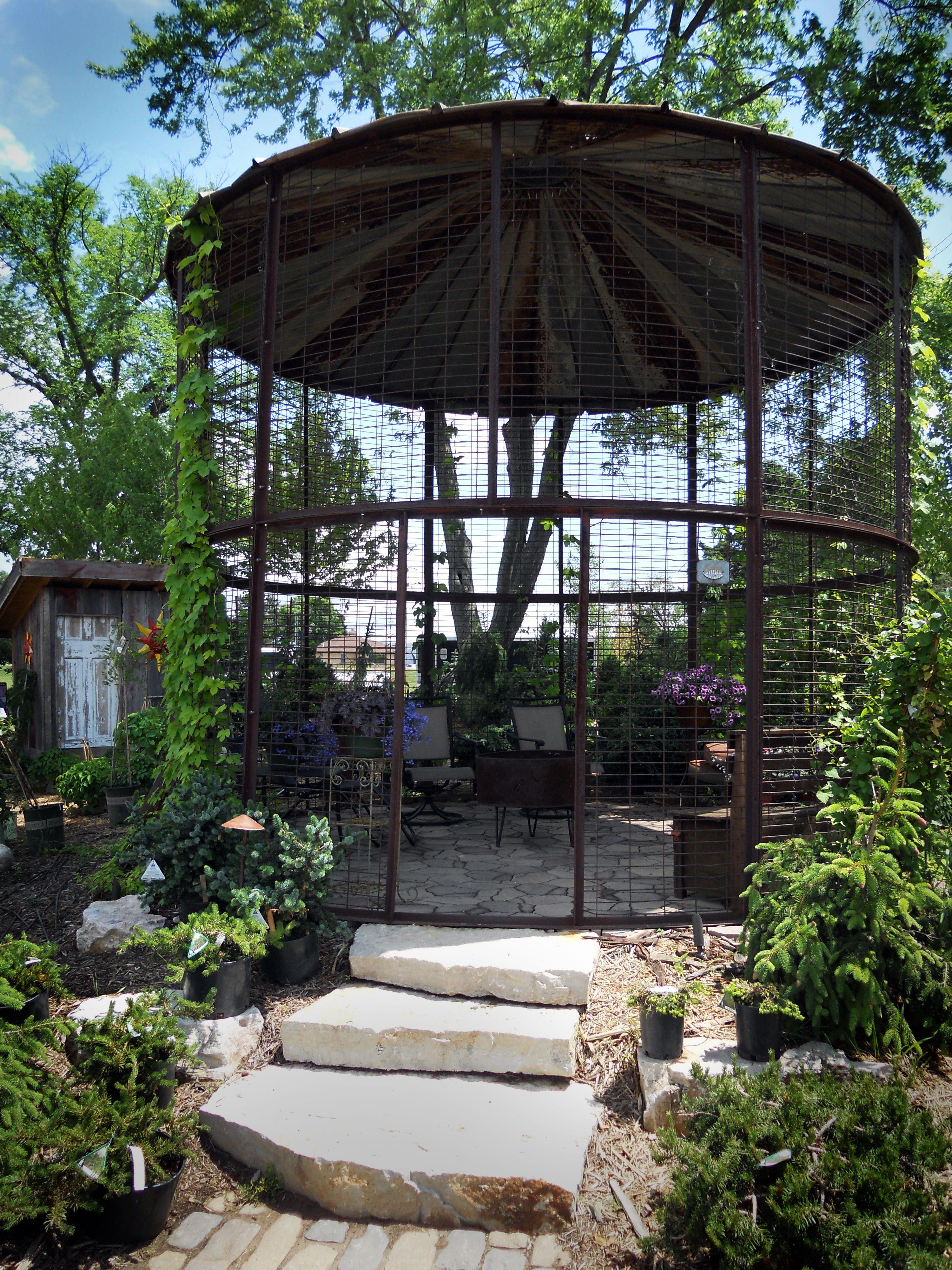 Pin by jacque zweygardt on grain bin homes pinterest for Gazebo chicken coop