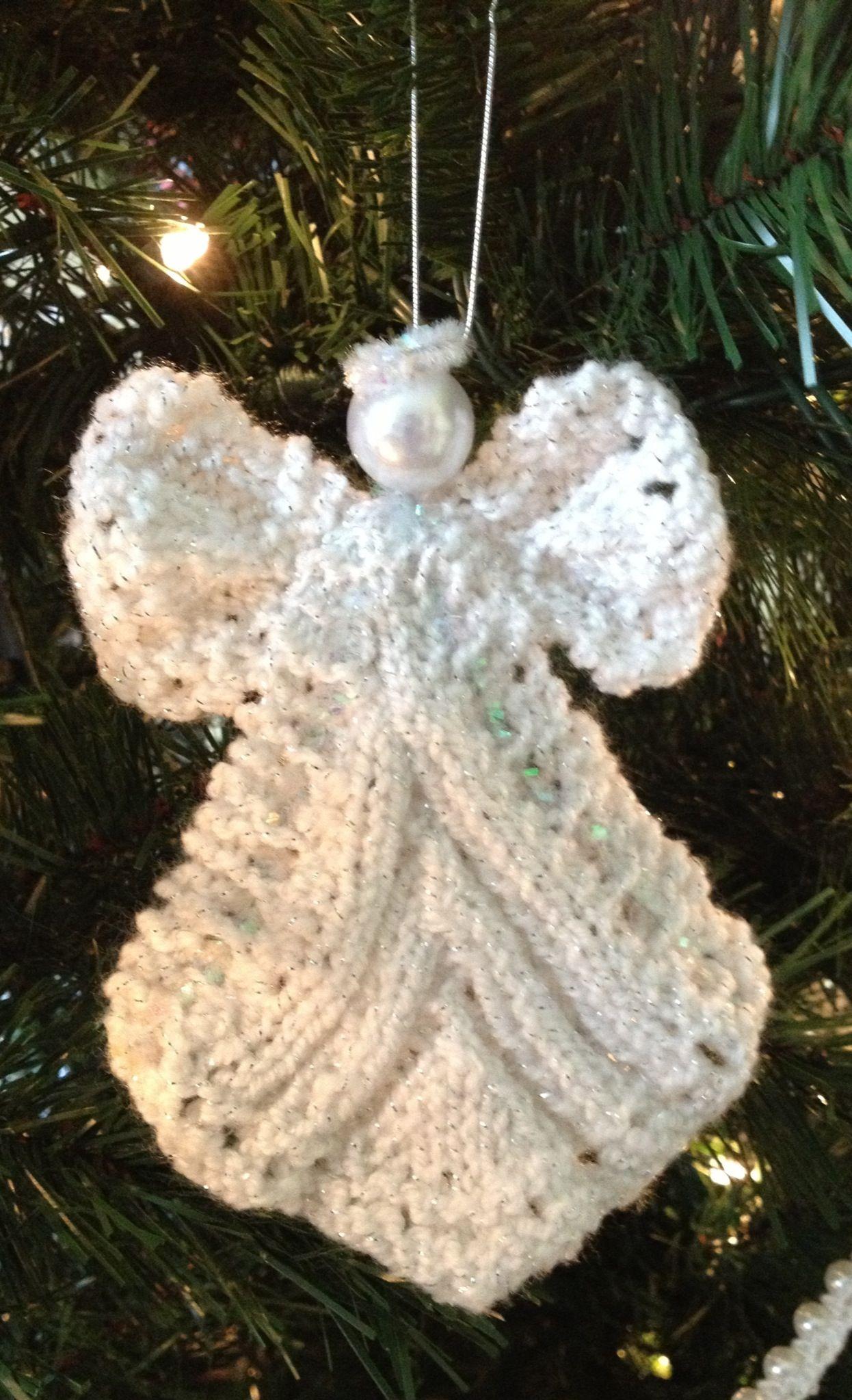 knit angel christmas ornament knitting pinterest