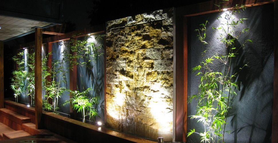 feature wall beautiful landscape design pinterest