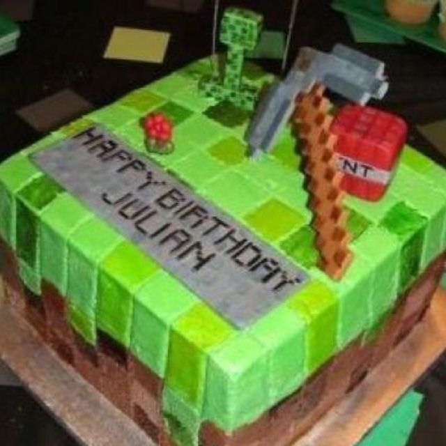 Cookies Cupcakes And Cardio How To Make A Minecraft Cake