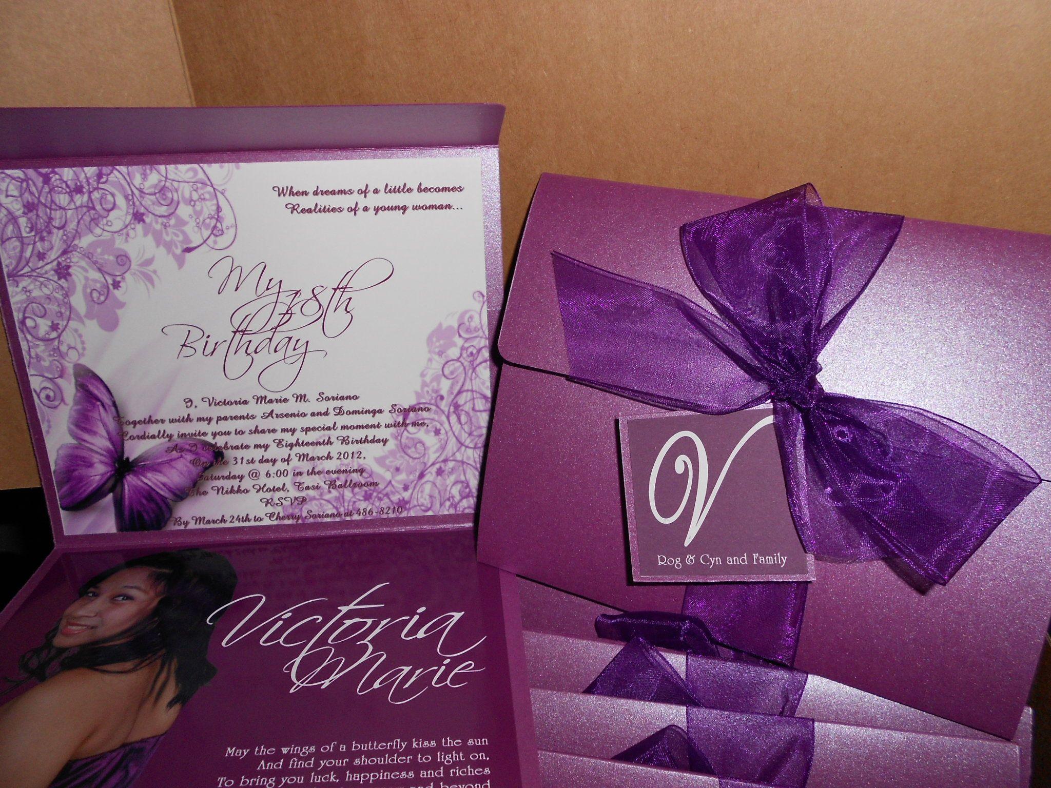 18th Birthday Invitations Sample Just B Cause