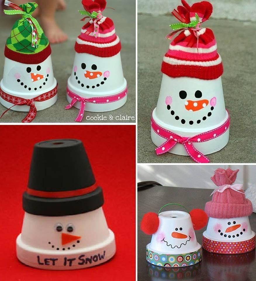 Des bonhommes de neige originaux pour votre décoration de Noël. «