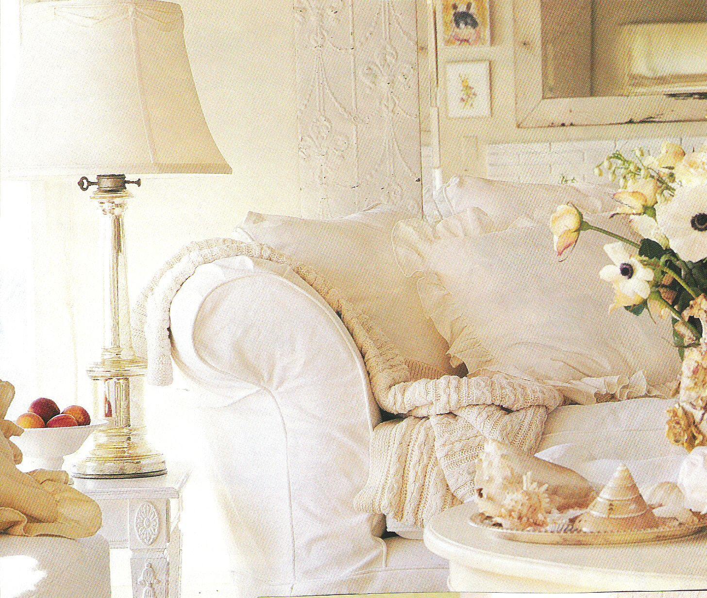 Cream and white living room cottage love pinterest