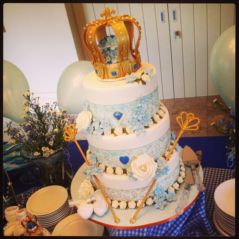 gold babyshower cake cupcakes regal royal littl pinterest