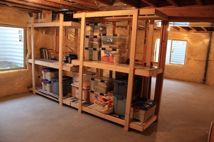 basement storage shelves home organization pinterest