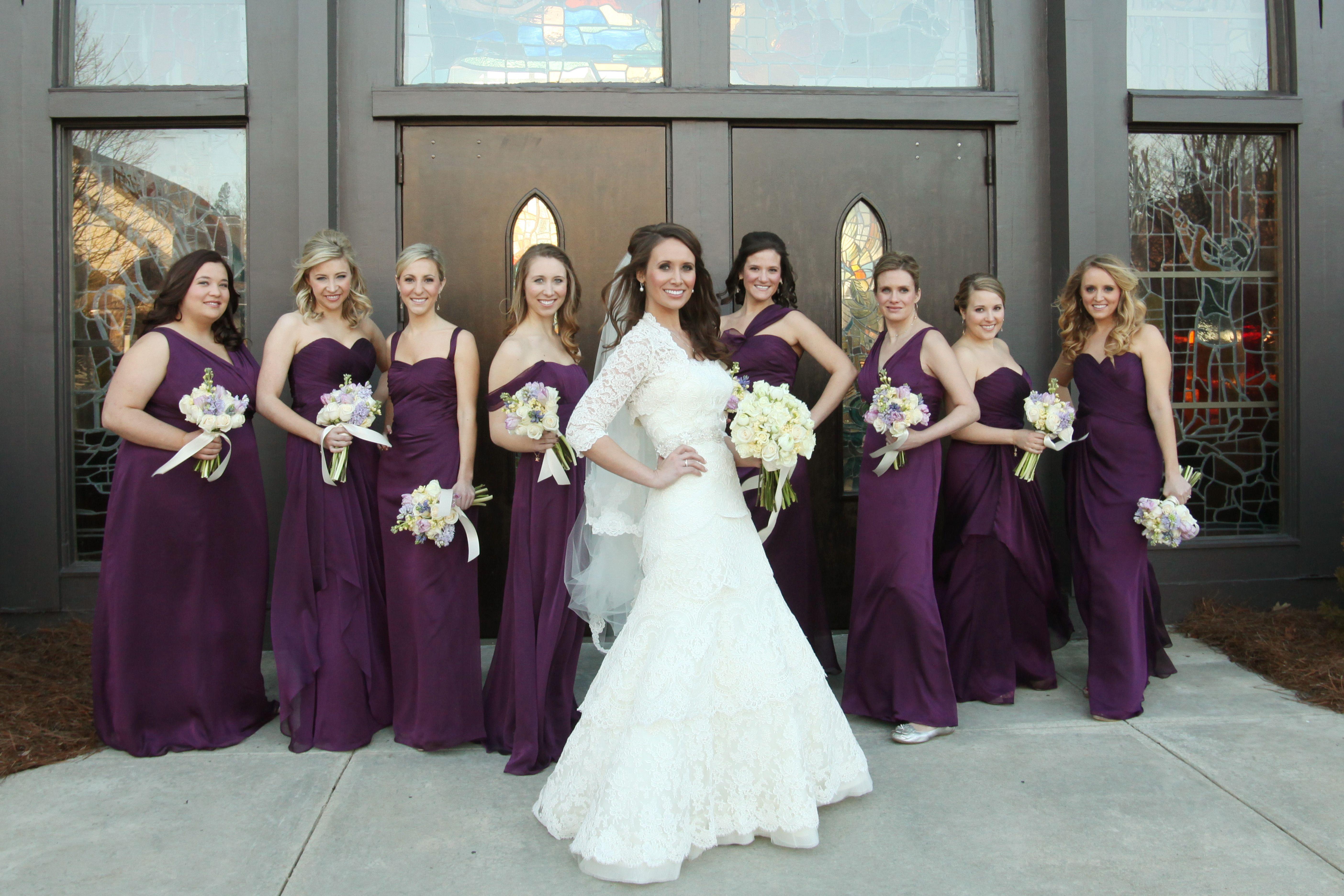 Eggplant Purple Bridesmaids Dresses Wedding Bridesmaids Pinterest