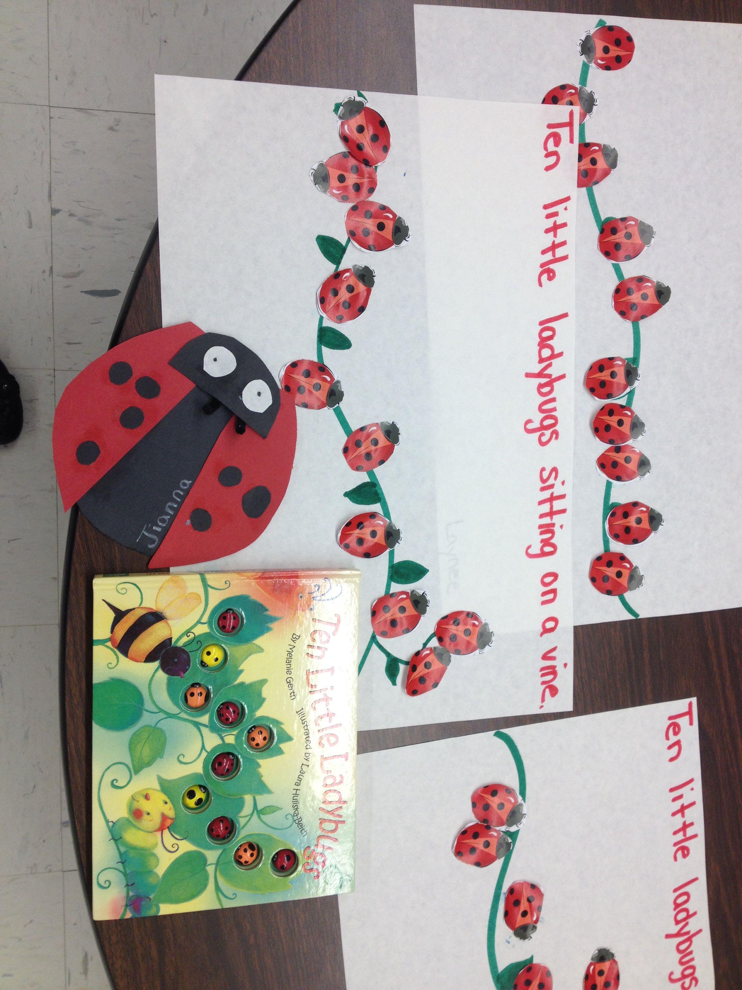 10 little ladybugs activities