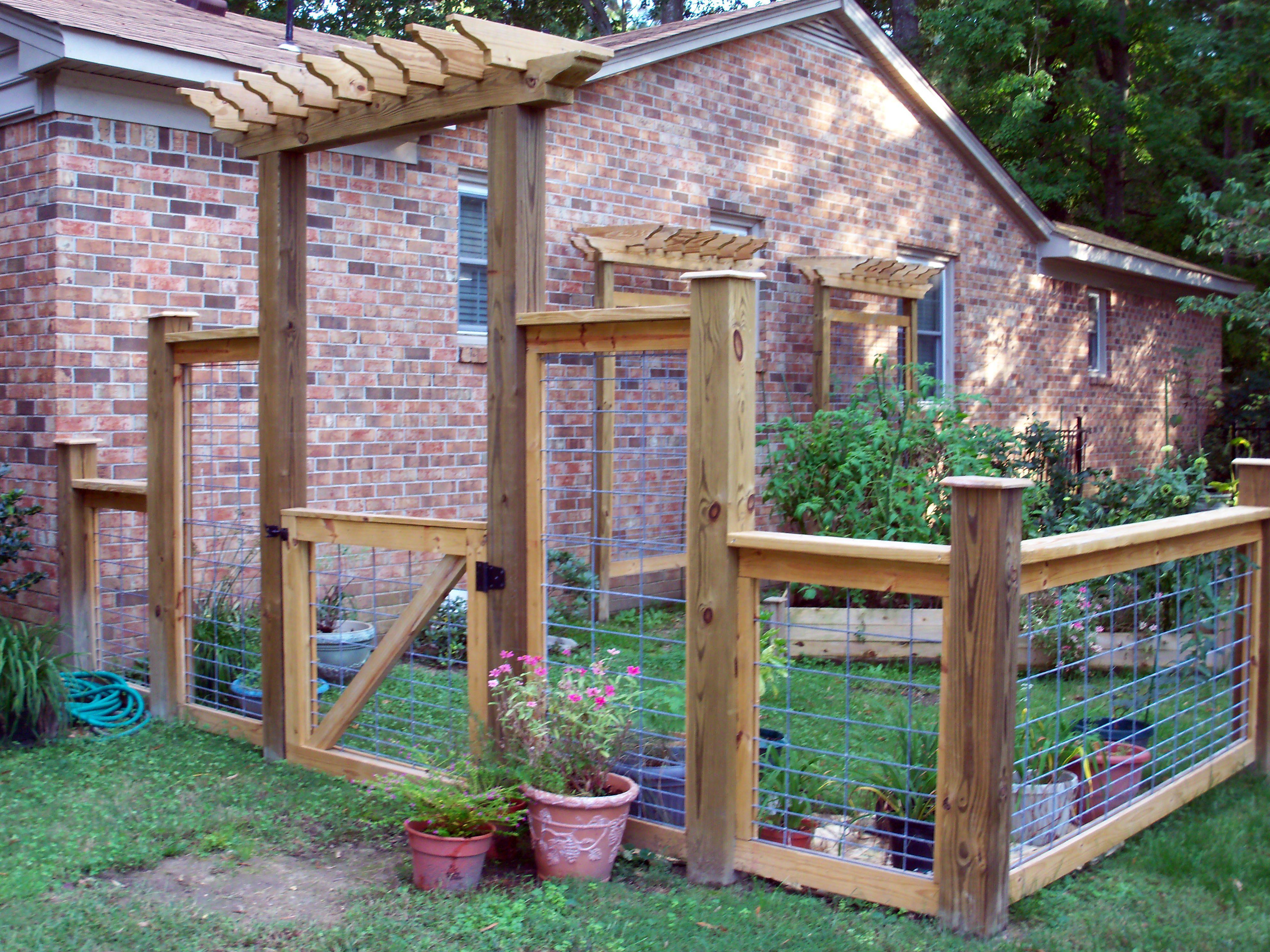 Garden fence great outdoors pinterest