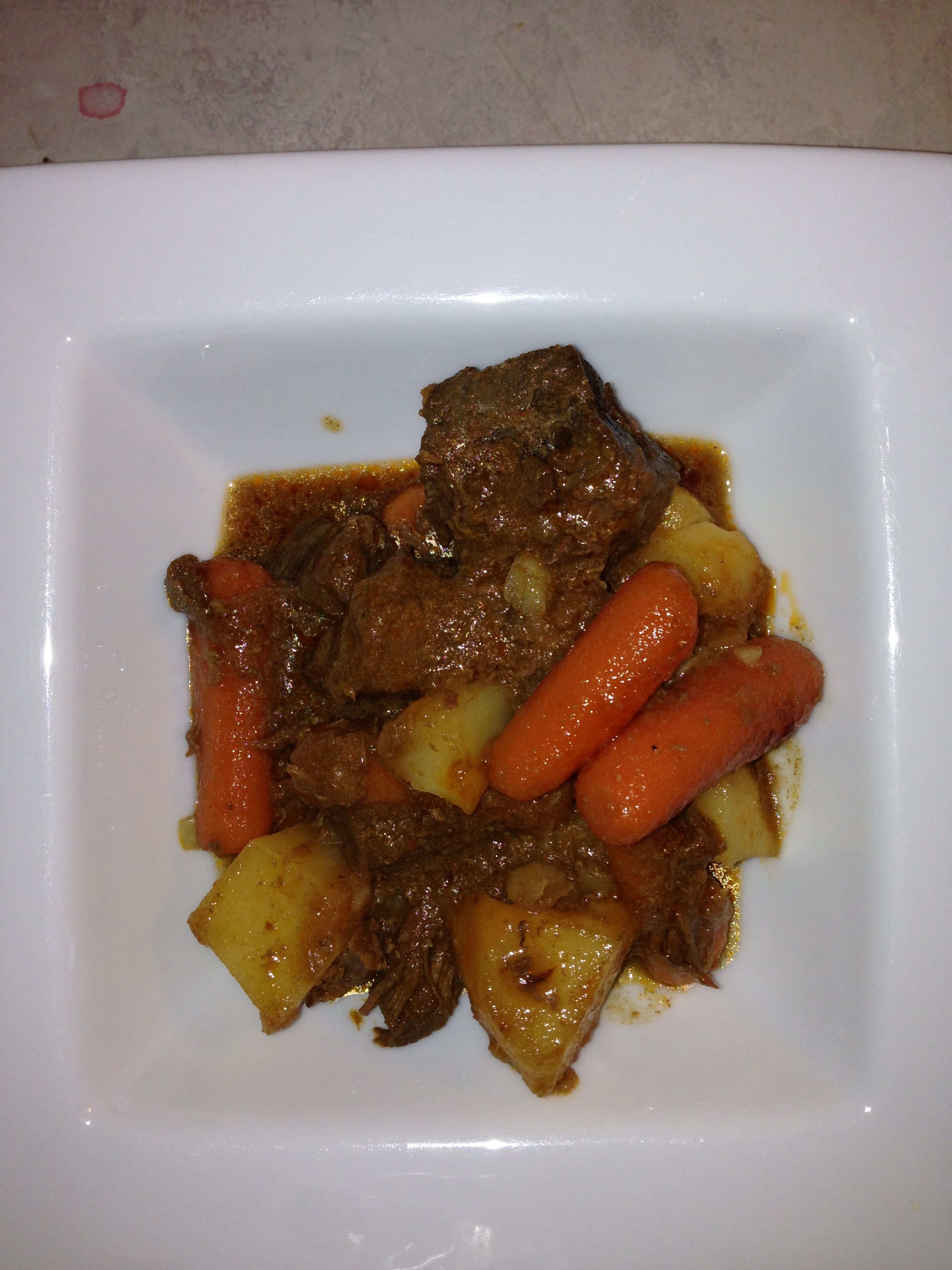 beef stew with potatoes and carrots | My preparation! | Pinterest