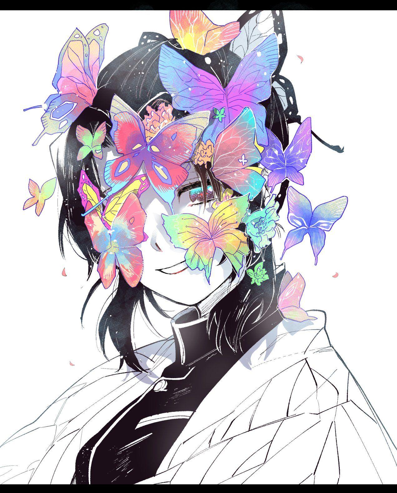 胡蝶しのぶ 髪飾り アニメ